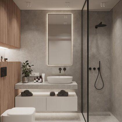 Aplicação microcimento casa de banho