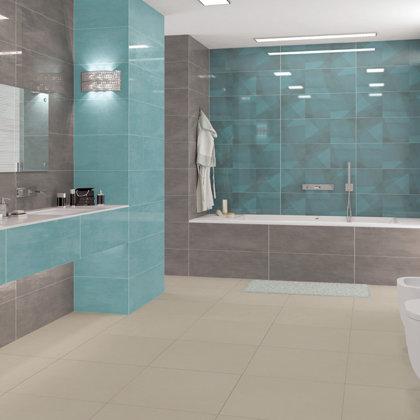 Revestimento casa de banho 2 cores